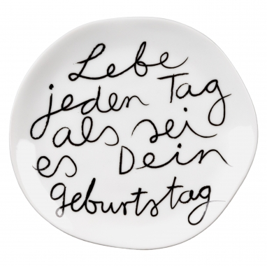 "Teller ""Lebe jeden Tag…"", Mix & Match"